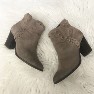 DV DOLCE VITA suede stud detail taupe boot…